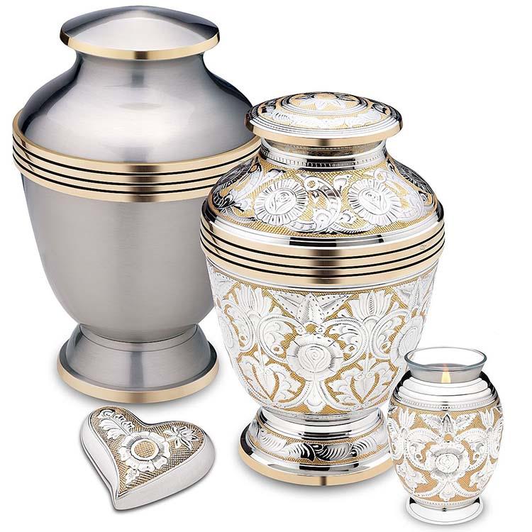 Grote Messing Urn Tinkleurig - Gouden Sierranden (4.2 liter)