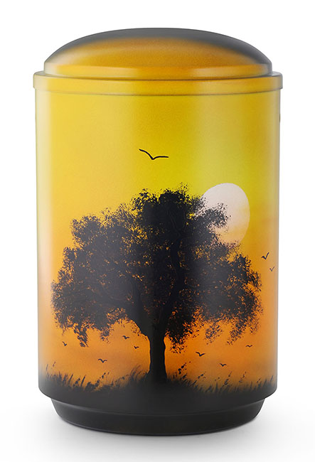 Design Urn Boom bij Zonsondergang (4 liter)