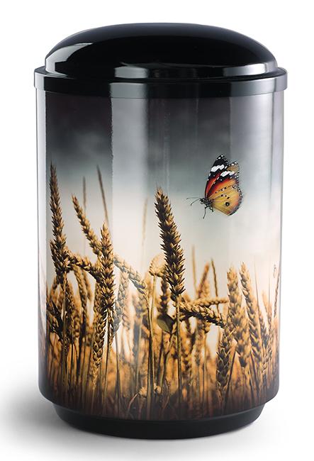 360 Graden Foto Design Urn Korenveld met Vlinder (4 liter)