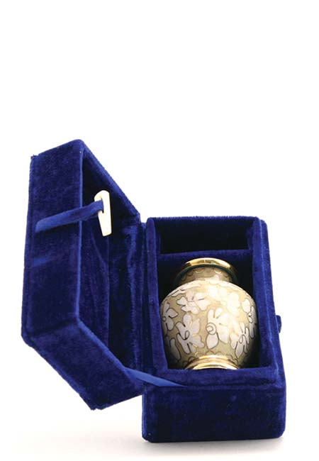 Exclusieve Cloisonne Mini Urn Flower Power (0.11 liter)