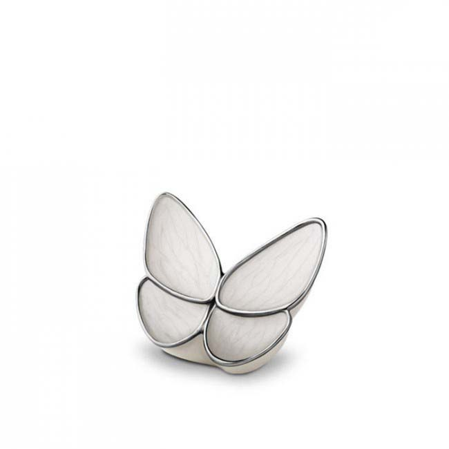 Mini Butterfly Urn Wit (0.05 liter)