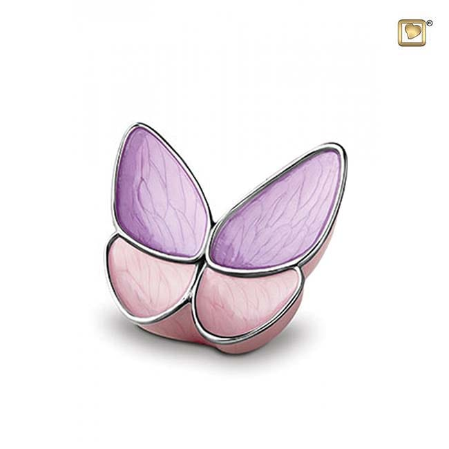 Kleine Roze Butterfly Dierenurn (0.4 liter)