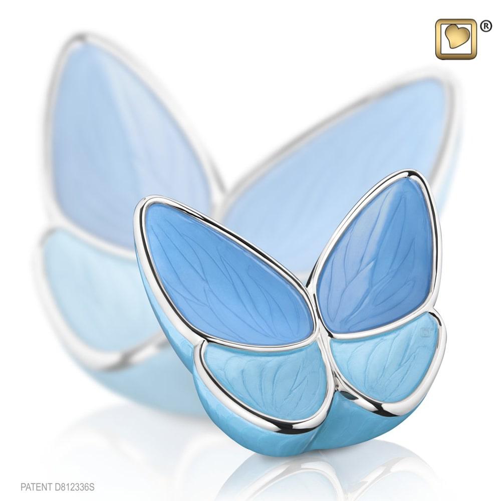 Kleine LoveUrns Butterfly Urn Blauw (0.4 liter)