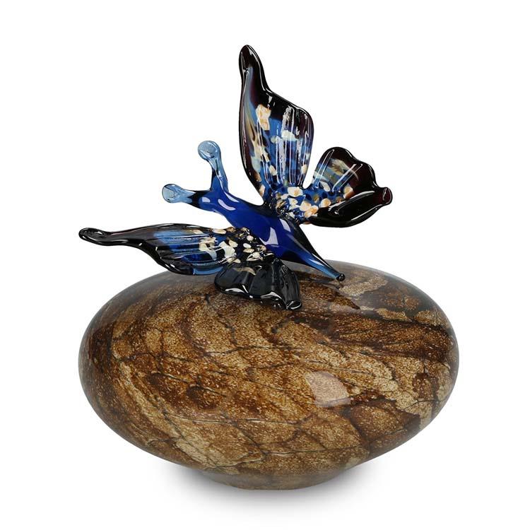 Kristalglas Vlinder Dierenurnen Blauw Mixed Colours (0.3 liter)