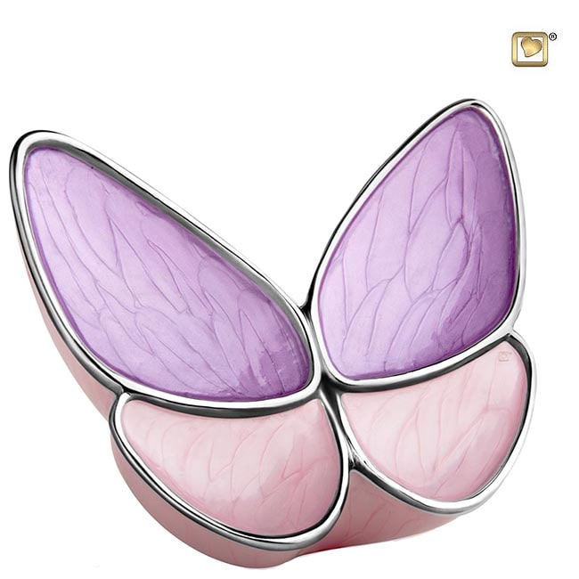 Grote Butterfly Urn Roze (3.1 liter)