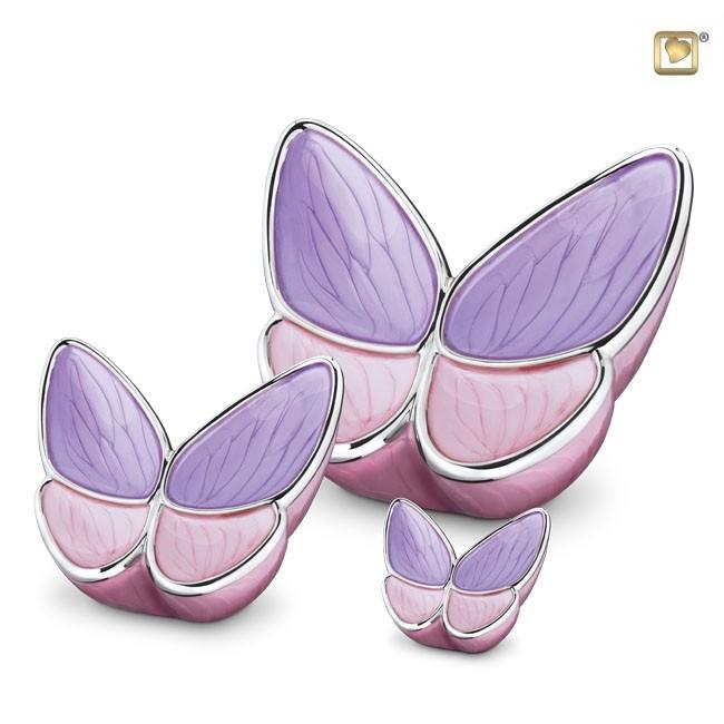 Butterfly Urnen Voordeelset Roze (3.1, 0.4 en 0.05 liter)
