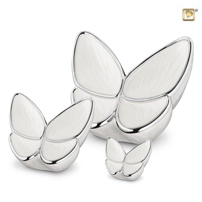 Butterfly Urnen Voordeelset Wit (3.1, 0.4 en 0.05 liter)