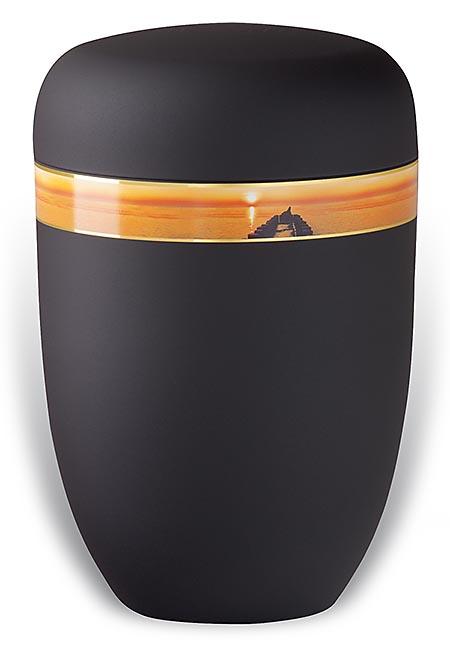 Design Urn met Decoratieband Avondzon (4 liter)
