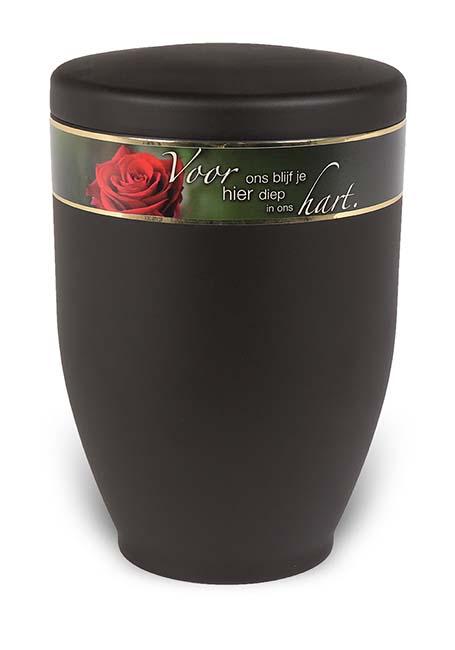 Design Urn met Tekstband Roos (3.6 liter)