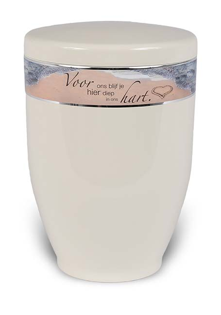 Design Urn met Tekstband Strandhart (3.6 liter)