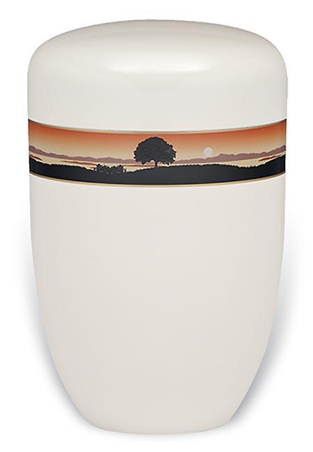 Design Urn met Decoratieband Bos (4 liter)