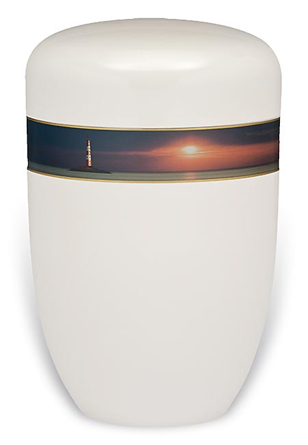 Design Urn met Decoratieband Horizon (4 liter)