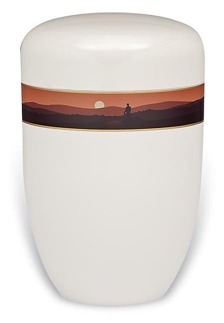 Design Urn met Decoratieband Bergen (4 liter)