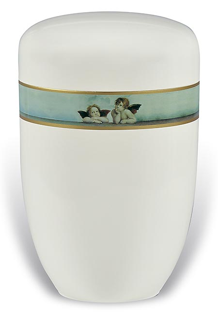 Design Urn met Decoratieband Cherubijnen (4 liter)