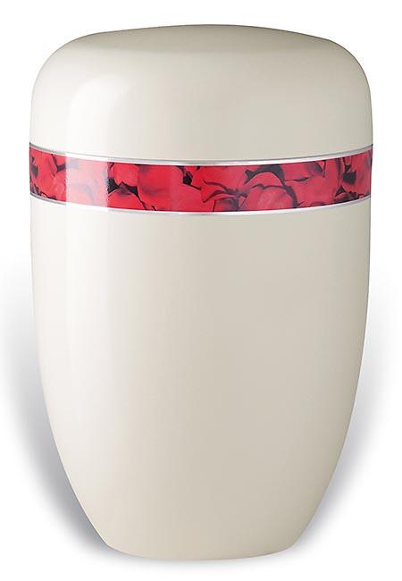 Design Urn met Decoratieband Rozenblad (4 liter)