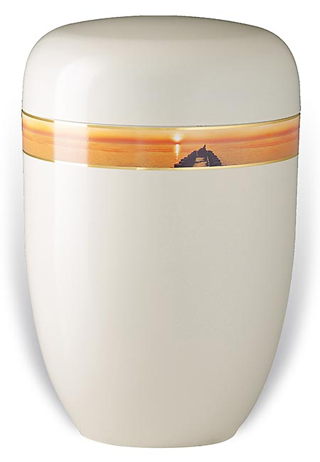 Design Urn met Decoratieband Sunset (4 liter)