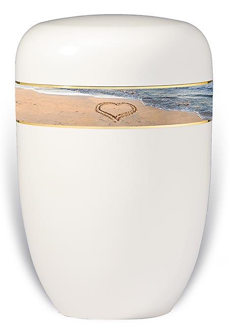 Design Urn met Decoratieband Strandliefde (4 liter)