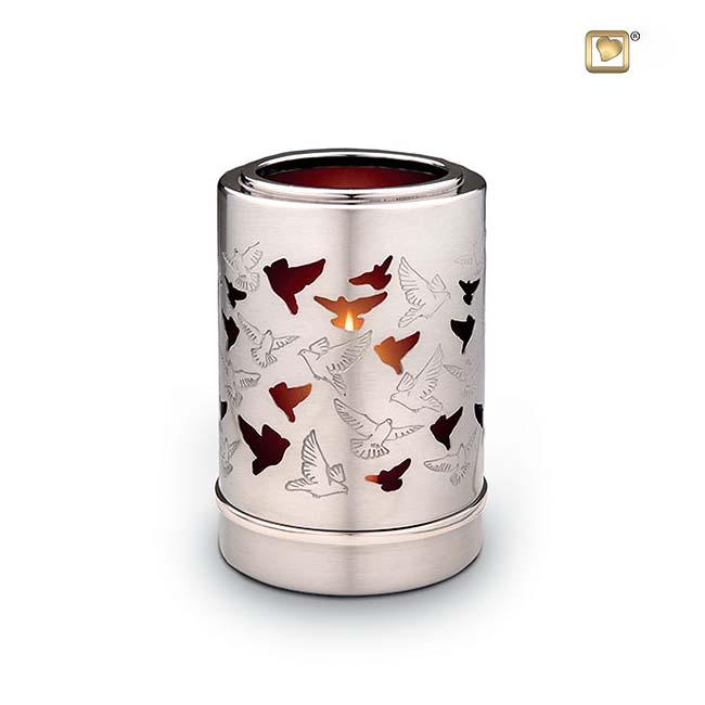 Urn met Waxinelichtje Duiven (0.2 liter)
