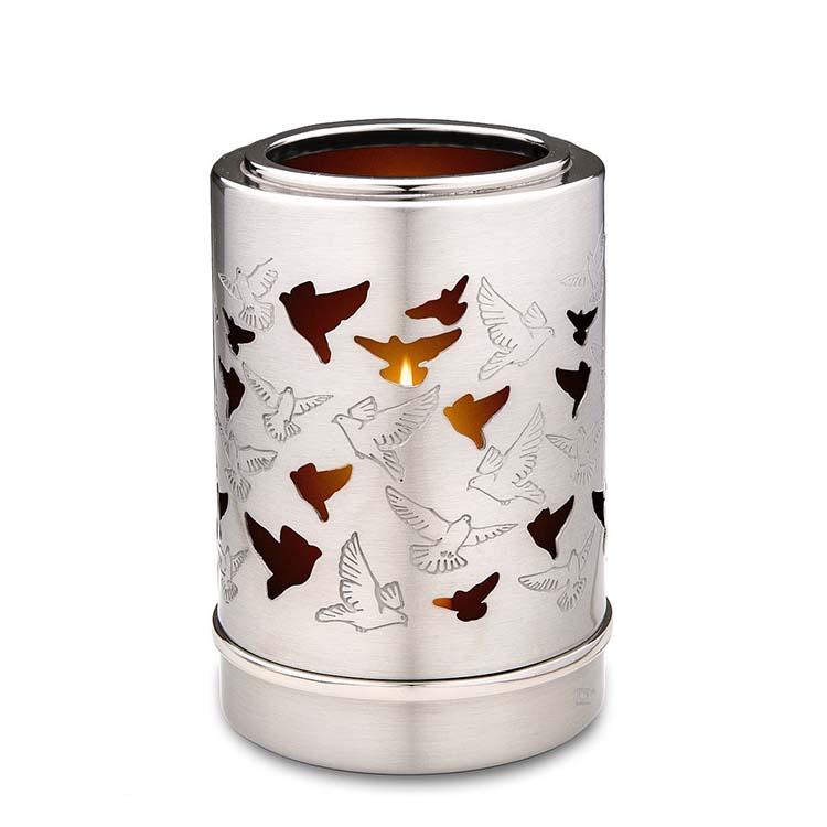 Urn met Waxinelichtje Duiven (0.3 liter)