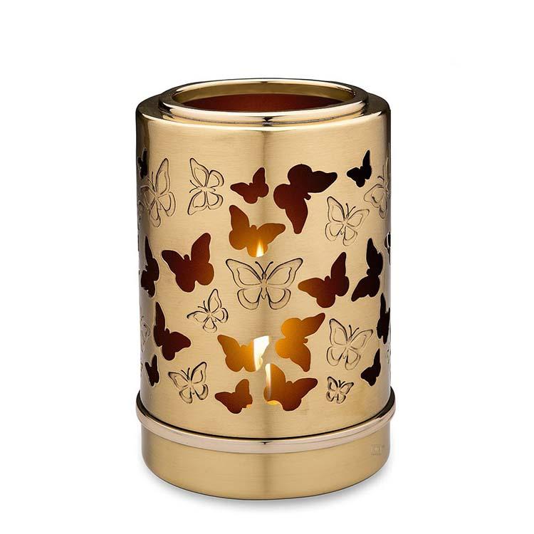 Urn met Waxinelichtje Vlinders (0.3 liter)