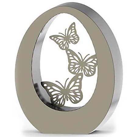 RVS Oval Butterflies Duo Urn (7 liter)