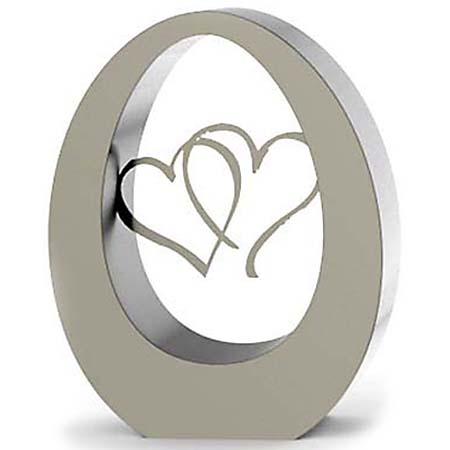 RVS Oval Hearts Duo Urn (7 liter)