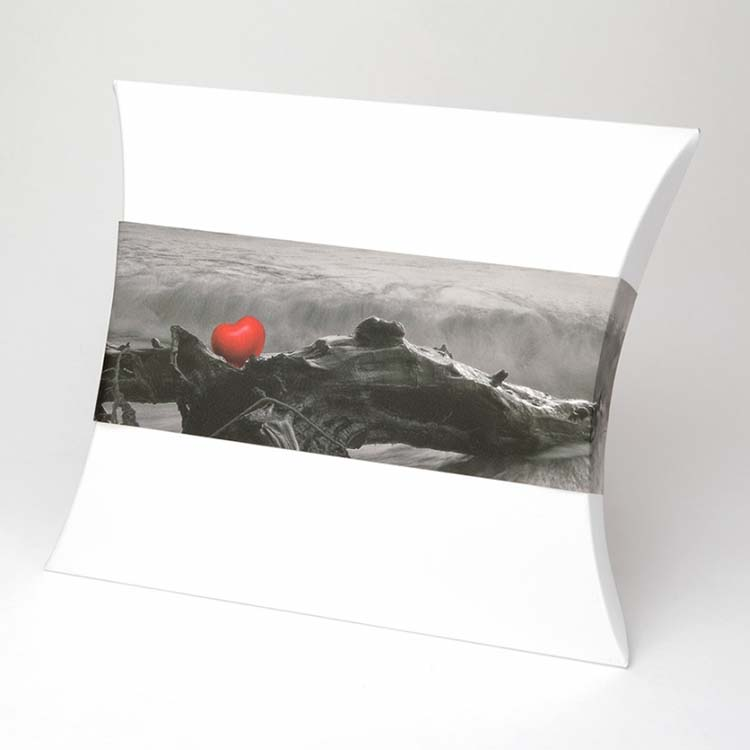 Grote Biologisch Afbreekbare Zee Urn Rood Hart (4 liter)