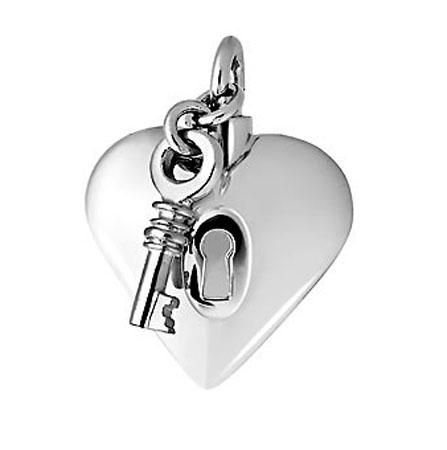 Ashanger hart met slot en sleutel
