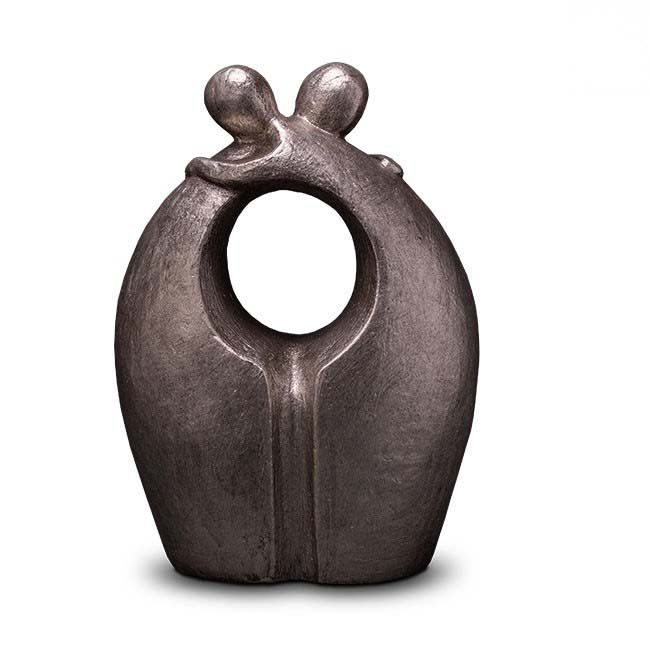 Grote Keramische Art Urn Afscheid Zilver (3 liter)