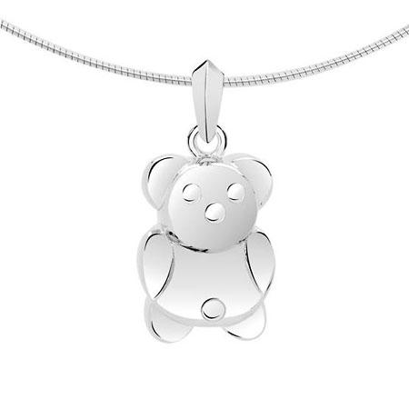 Zilveren Ashanger teddybeer