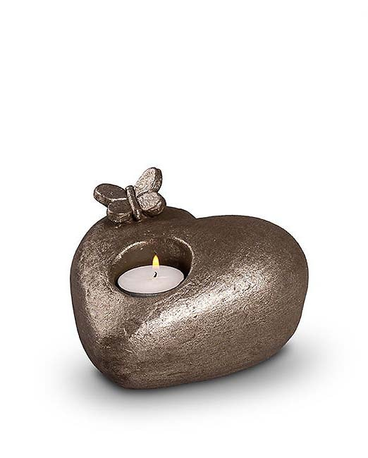 Keramische Dieren Urn Tederheid Vlindertje Zilver (0.5 liter)