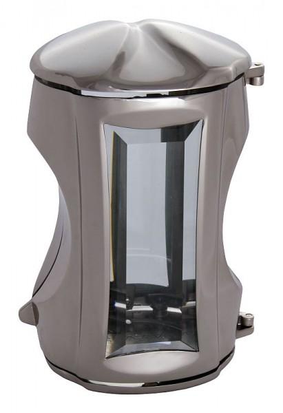 Zware XL Messing Graflantaarn - Zilver
